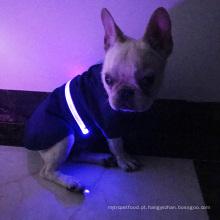 O animal de estimação do inverno da capa de chuva do revestimento da veste do cão da segurança do diodo emissor de luz veste o revestimento morno para o animal de estimação