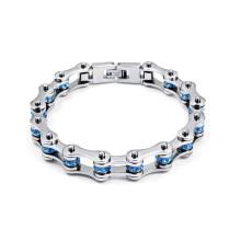 Wholesale stainless steel blue cycling identity bracelet,navy blue bracelet jewelry