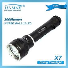 Hi-Max X5 IP68 100m tiefes Tauchen Kaltweiß 1000 Lumen Primär-Tauchlicht