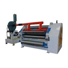 Fingerless single facer corrugated cardboard machine