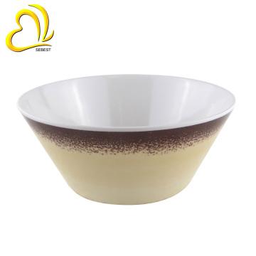 decal print 6 inch round salad melamine bowls