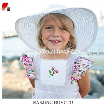 Floral clothing sets boutique apron ruffle dress embroidery