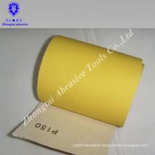 Hot seller yellow quartz sand cloth roll,C-weight paper,10cm*50m,P46-600