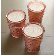 Bougie en verre de cire de soja de conception simple d'Aroma Nature