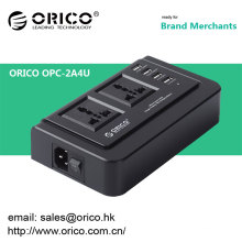 ORICO OPC-2A4U multi-function usb charger socket 4 Ports USB Charger and Compatible with two 3-pin power socket