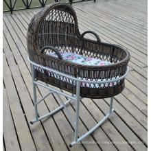 Outdoor Rattan Furniture Baby Swing Bassinet