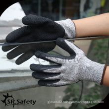 SRSAFETY 13 gauge high quality cut resistant glove with latex coating