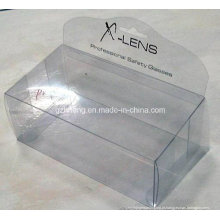 Caixa plástica clara da impressão da tela do fabricante do competidor para a exposição (HH08)