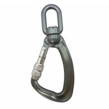 A304KSG Metal Alumínio giratório de carga Snap Screw Lock Gancho