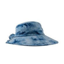 Tampão e chapéu de tintura amarrada