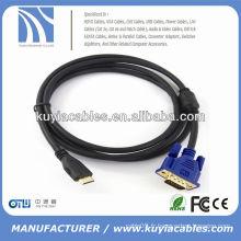 Câble haute vitesse de 1.8M 6FT Svga vers HDMI mâle vers mâle