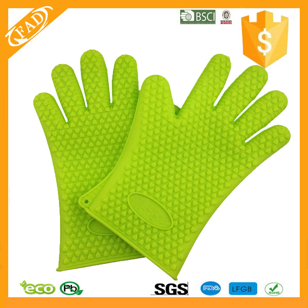 silicone glove green2