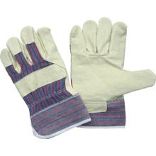 Pig Grain Leather volle Palme Streifen Baumwolle zurück Arbeitshandschuh-3503
