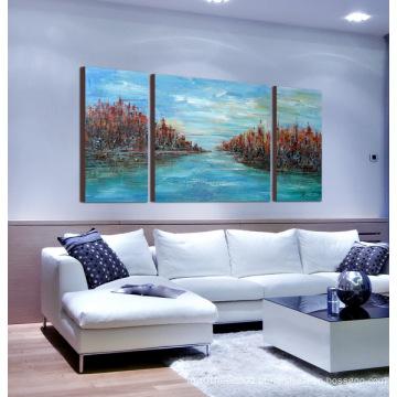 Arte moderna emoldurada em tela em tela