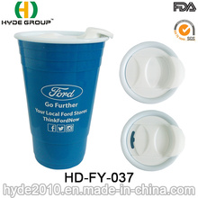 Promotional Christmas Party 16oz Double Wall Solo Cup with Lid