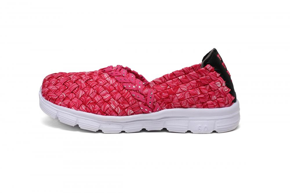 Rose Red Child Woven Pumps