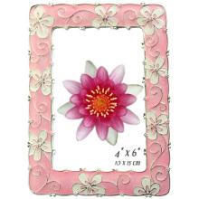 Красивый цветок форме оловянную фото рамка в 5 x 7 дюймов