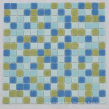 Brillante Brillante Superficie Azul Brillante Iridensent Radom Design Mosaico de vidrio