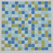Brillant Brillant Surface Bleu Brillant Iridensent Radom Design Mosaïque en verre