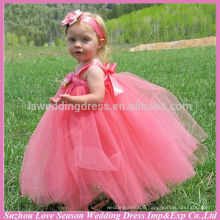 HF5003 OEM Accepted Top Quality Factory Price flower patterns child model pictures birthday for baby girl 2 year old girl dress