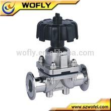 Válvula de controle de diafragma pneumático de aço inoxidável