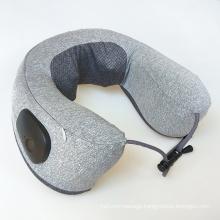 Electric Battery Operated Shiatsu Kneading Heating Memory Foam U Shaped Neck Massage Pillow