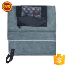 Secado rápido logotipo personalizado y paquete toalla de viaje de microfibra de gamuza playa / baño / gimnasio / toalla de microfibra deportiva al aire libre