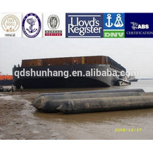 High-pressure marine boat airbag for launching barge