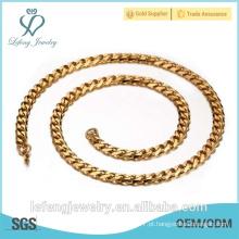 Atacado moda jóias colar de ouro, barato Twill cadeia colar por aço inoxidável 316l