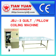 Quilt/Pillow Coiling and Rolling Machine