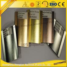 Perfil de alumínio escovado brilhante anodizado OEM para as peças do alumínio da decoração da mobília