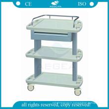 AG-LPT004A CE ISO abs instrument médical chariot hôpital en plastique utilitaire chariot