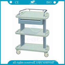 AG-LPT004A CE ISO abs medical instrument trolley hospital plastic utility cart