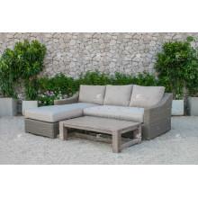 ALAND COLLECTION - Nuevo Diseño PE Muebles de mimbre de mimbre al aire libre Sofá L forma