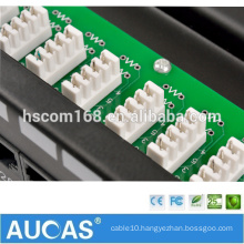 25 port circuit board shielded voice patch panel /RJ11 telephone voice wiring block /110 dual IDC 100 pair cable management