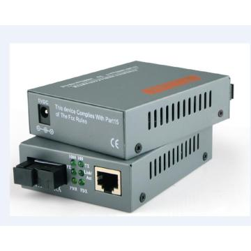 Interruptor convertidor de fibra Cat6 a multimodo Ethernet