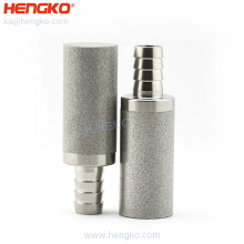 """custom D1/2""""*H1-7/8""""2 and 5um with 1/4"""" and 1/8""""Barb stainless steel home brew tools mini keg carbonation stone"""