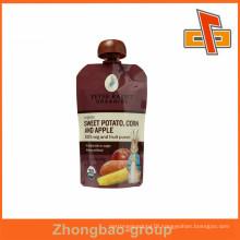 Plastic Laminated Material Friut Juice Spout Bag, Snack Pouch With PVC Spout