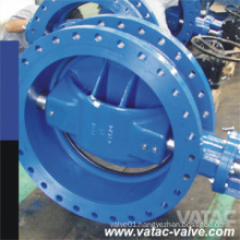 Double Flanged Cast Steel Butterfly Valve