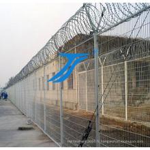 Clôture de la prison, clôture de sécurité, clôture protectrice