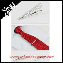 Clip de corbata de seda y corbata para hombre
