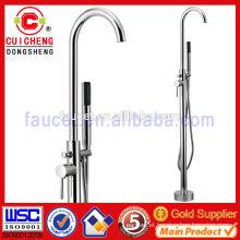 chrome plated brass freestanding bathtubs shower faucet,bathroom bath shower faucet mixer good price