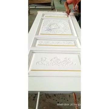 Novo design preço barato de luxo porta de madeira dupla