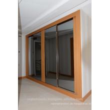 Garderobe Schiebetüren aus lackiertem Holz, Furniertür mit Spiegel,