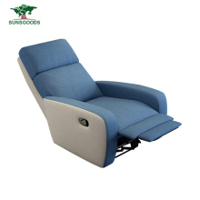 White and Blue Single Home Theater Furniture Living Room Chair Chesterfield Modern Recliner Sofa