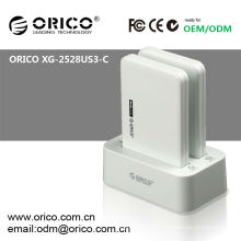 Station d'accueil hdd à double baie ORICO 2528US3-C, USB3.0 clone docking pour 2.5''HDD