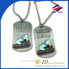 Oval shape club antique color painting superman dog tag