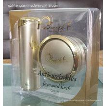 Caja plástica del regalo de la impresión compensada del OEM para los cosméticos (caja del PVC)