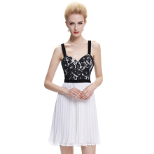 Starzz 2016 Mid-Thigh Sleeveless Pleated Chiffon Ball Gown Short Prom Dress Cocktail Dress ST000003-1