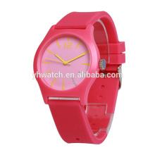 Dernières silicone caoutchouc Japon mouvement étanche de haute qualité montres